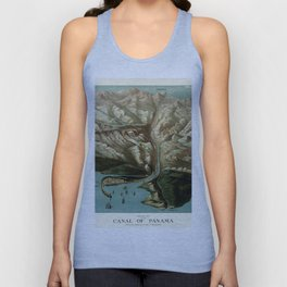 Map Of Panama Canal 1881 Unisex Tank Top