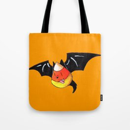 Candy Corn Bat Tote Bag