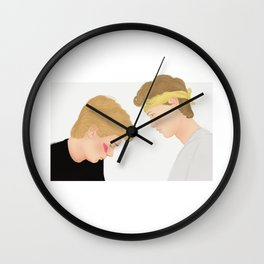 Skam, Isak and Even | Evak Illustration Wall Clock