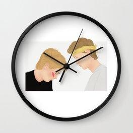 Skam, Isak and Even | Evak Illustration Wall Clock