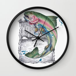 Trout Fishing in the Sierra Nevada's Wall Clock