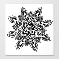 zentangle Canvas Prints featuring Zentangle by Cady Bogart