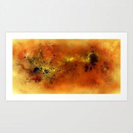 Orange Space Art Print