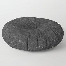 Scratched Black Floor Pillow