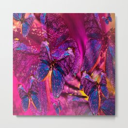 Butterflies Celebration In Pink And Purple Colors #decor #society6 Metal Print