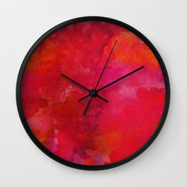 Crimson Wall Clock