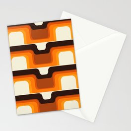 Mid-Century Modern Meets 1970s Orange Stationery Cards
