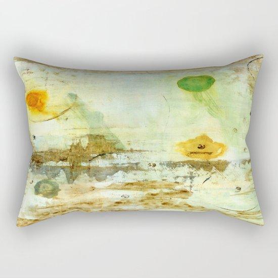 Drifting, Abstract Landscape Art Painting Rectangular Pillow