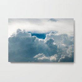 View of heavy clouds from above Metal Print