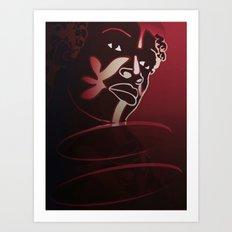 Ebony Red Art Print