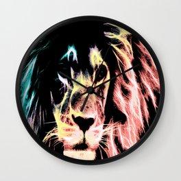 Leo Lion : Subtle Pastels Wall Clock