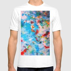 Sun Kissed MEDIUM Mens Fitted Tee White