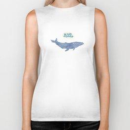 Je suis triste Whale Biker Tank