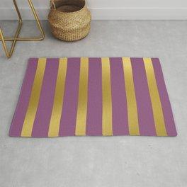 Baesic Gold & Purple Texture Shine Rug
