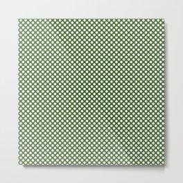Treetop and White Polka Dots Metal Print