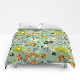 Mushroom Jungle Comforters