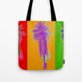 Poster with palm tree in pop art style Tote Bag