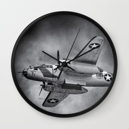 North American B-25 Mitchell Wall Clock