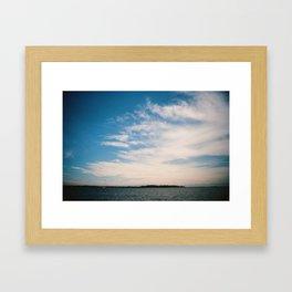 South River Sky Framed Art Print