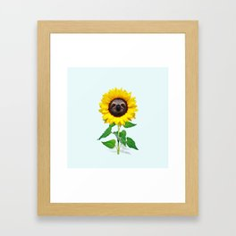 Slothflower Framed Art Print