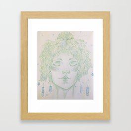 A woman of Crystals Framed Art Print