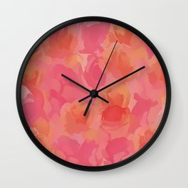 Soft Rose Bouquet Abstract Wall Clock