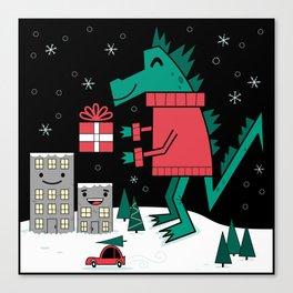 Kaiju Christmas Canvas Print