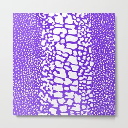ANMAL PRINT SNAKE SKIN PURPLE AND WHITE PATTERN Metal Print