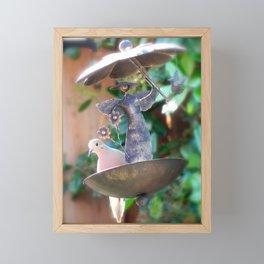 angel and dove Framed Mini Art Print