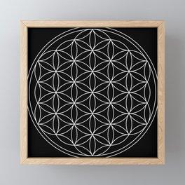 Flower of Life : Sacred Geometry Framed Mini Art Print