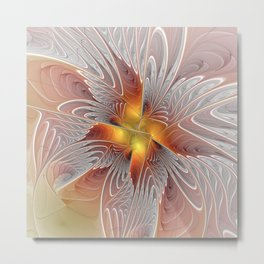 Fantasy Butterfly, Abstract Fractal Art Metal Print