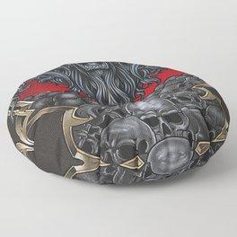 Lion Of Death Floor Pillow