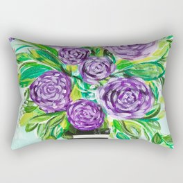Purple Bouquet Delights Rectangular Pillow