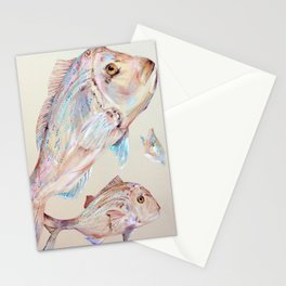 Pink Snapper Fish Stationery Cards