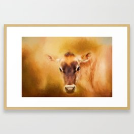 Jersey Cow Farm Art Framed Art Print
