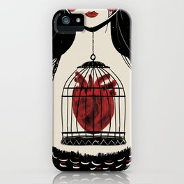 Heart in a cage iPhone Case