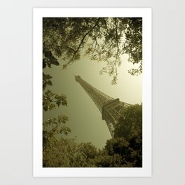 Eiffel Tower in Fall Art Print
