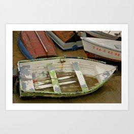 Sandy Spanish Row Boat  Art Print