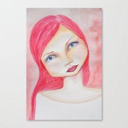 Bella SASS Girl - Rose - SASS = Strong and Super Smart Canvas Print