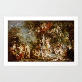 The Feast of Venus by Peter Paul Rubens Art Print