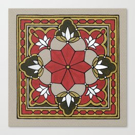 Arabesque Tile n°3 Canvas Print