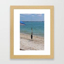 Cast the Line Framed Art Print