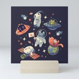 Cats in Space // Universe, Kittens, Feline Mini Art Print