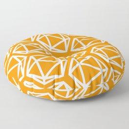 D20 Pattern - Orange and White Floor Pillow