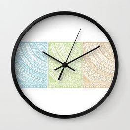 Weaved Elements I Wall Clock