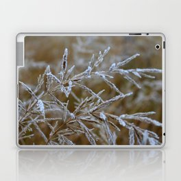 Ice frozen on plant branches in winters Laptop & iPad Skin