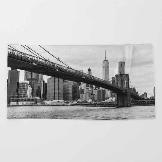 Monochrome Manhattan Beach Towel