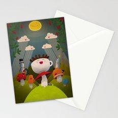 Jolly Coffeesburg (Soy, venti, vanilla latte, sugar-free) Stationery Cards