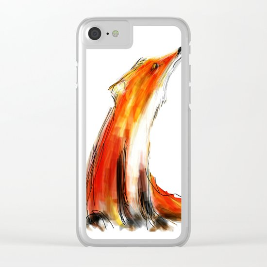 Wise Fox Reverse Clear iPhone Case