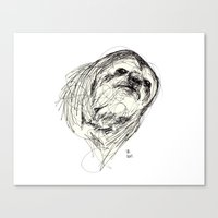 sloth Canvas Prints featuring Sloth by Ursula Rodgers